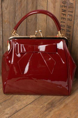 Banned Handtasche American Vintage mit Schleife, burgund von Rockabilly Rules