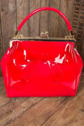 Banned Handtasche American Vintage mit Schleife, rot von Rockabilly Rules
