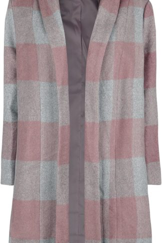 Banned Retro The Classic Coat Mantel grau/rosa