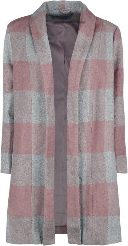 Banned Retro The Classic Coat Mantel grau/rosa