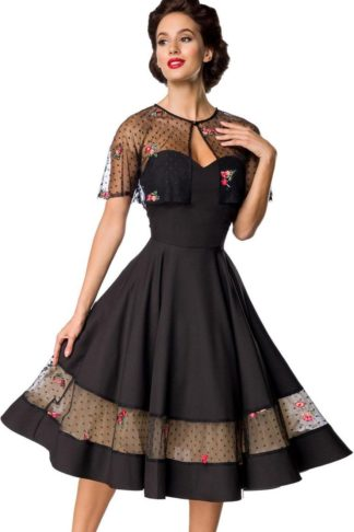 Belsira - Edles Sommer Swingkleid mit Cape von Rockabilly Rules