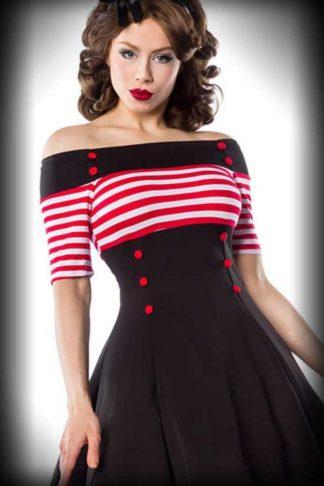 Belsira Matrosen Swingkleid Lily mit Streifen von Rockabilly Rules