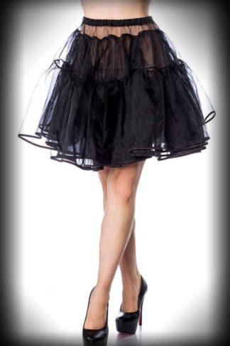 "Belsira Petticoat kurz ""Rockabella"" - schwarz von Rockabilly Rules"