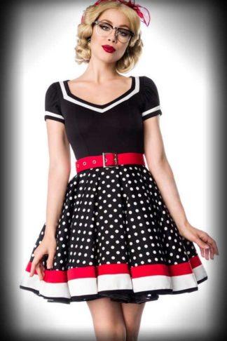Belsira Polka Dot Kleid mit V-Ausschnitt - Peggy Sue von Rockabilly Rules