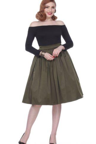 Bettie Page Clothing - Rock Ellie, olive von Rockabilly Rules