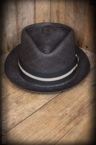 Bigalli Hats - Diamond Stingy, schwarz von Rockabilly Rules