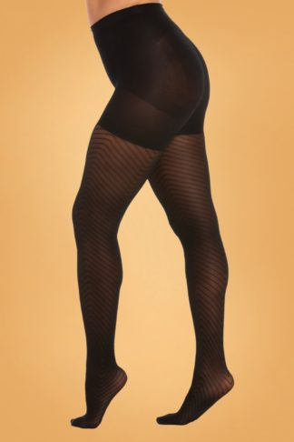 Chevron Legs Tights in Black