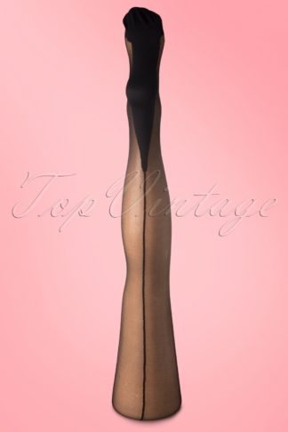 Classic Black Seamer Tights with Black seam