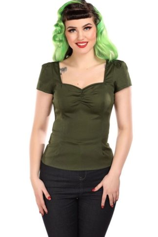 Collectif Vintage Mimi Plain Top von Rockabilly Rules