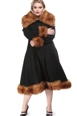 Collectif Wintermantel Vintage Pearl Coat von Rockabilly Rules