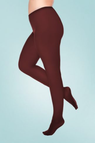 Curvy Super Stretch Tights in Burgundy