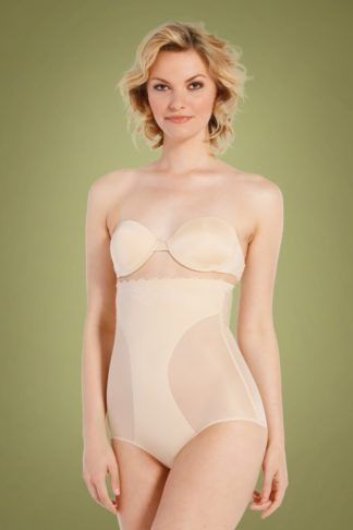 DSIRED Scallop Sheer High Brief in Latte