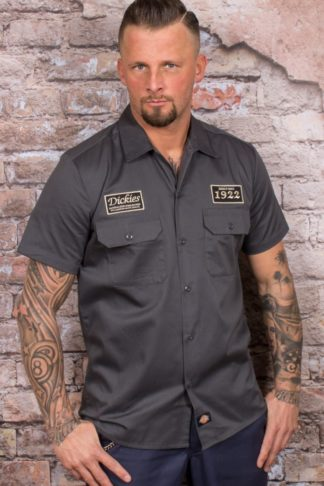 Dickies - Kurzarmhemd North Irwin, grau von Rockabilly Rules