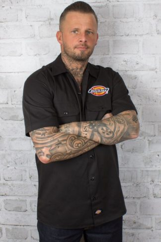 Dickies - Workshirt   Hemd Clintondale, schwarz von Rockabilly Rules