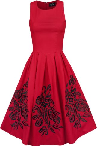 Dolly and Dotty Annie Embroideres Roses Swing Dress Mittellanges Kleid rot