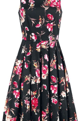 Dolly and Dotty Annie Floral Retro Kurzes Kleid schwarz