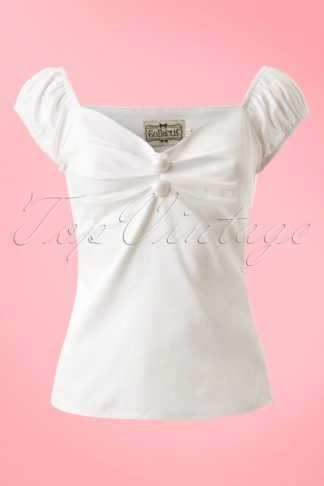 Dolores top Carmen White