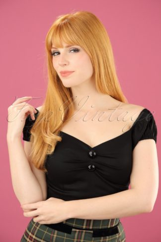 Dolores top Carmen black