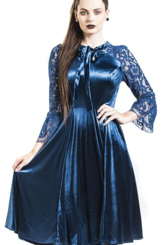 H&R London Dream In Royal Blue Mittellanges Kleid blau