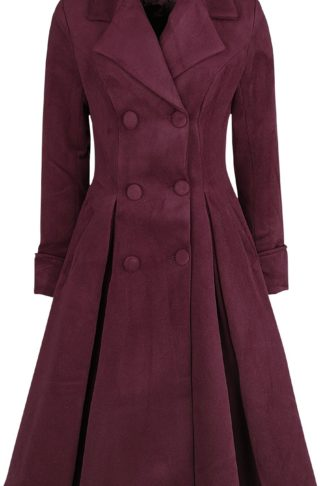 H&R London Eleanor Swing Coat Mantel burgund