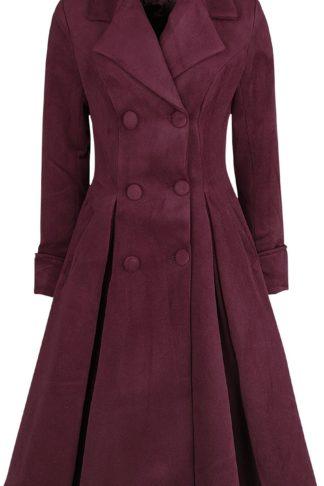 H&R London Eleanor Swing Coat Mantel burgund