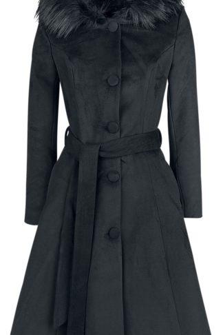 H&R London Ella Swing Coat Mantel schwarz