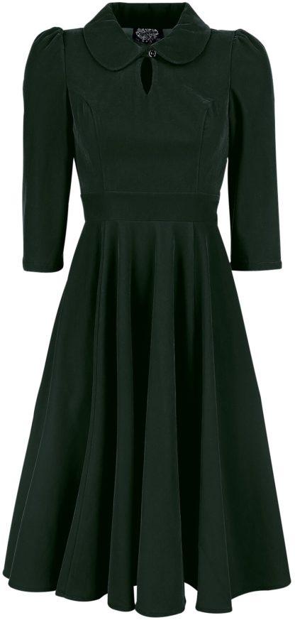 H&R London Glamorous Velvet Tea Dress Mittellanges Kleid dunkelgrün