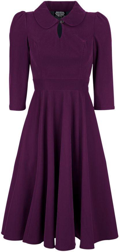 H&R London Glamorous Velvet Tea Dress Mittellanges Kleid lila