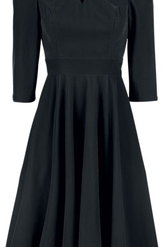 H&R London Glamorous Velvet Tea Dress Mittellanges Kleid schwarz