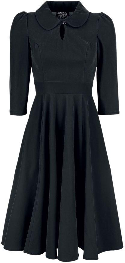 H&R London Glamorous Velvet Tea Dress Mittellanges Kleid schwarz