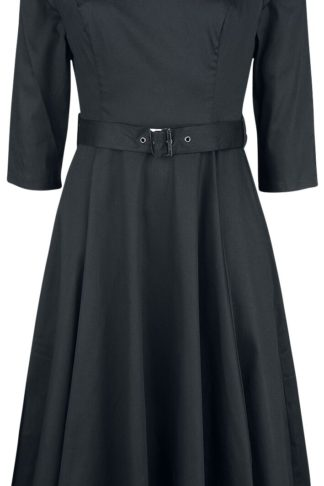H&R London Mon Amour Swing Dress Mittellanges Kleid schwarz