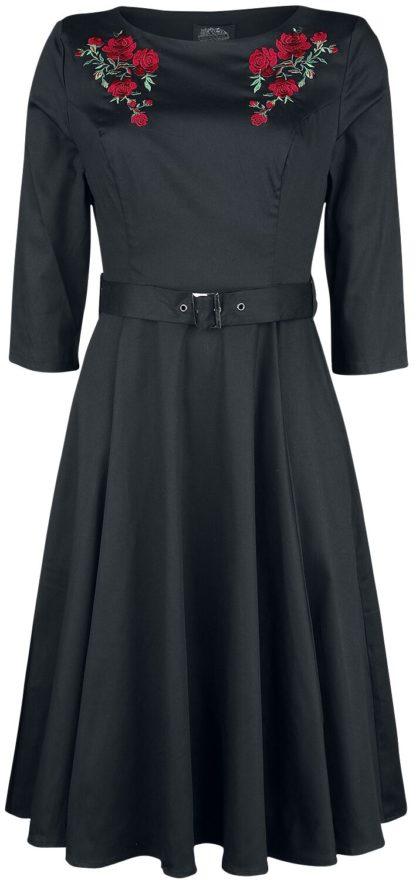 H&R London Mon Amour Swing Dress Mittellanges Kleid schwarz