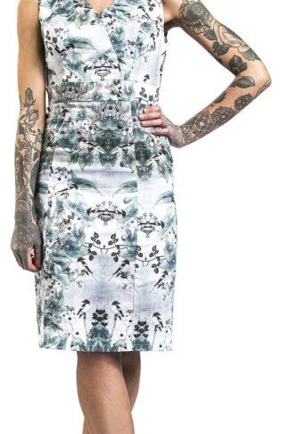 H&R London Vintage Swing Dress Mittellanges Kleid multicolor