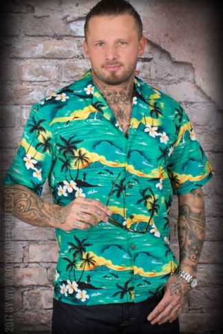 Hawaiihemd - Hawaiian Green von Rockabilly Rules
