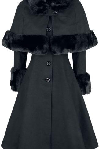 Hell Bunny Capulet Coat Mantel schwarz