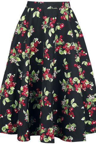 Hell Bunny Cherie 50's Skirt Mittellanger Rock schwarz