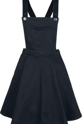 Hell Bunny Dakota Pinafore Dress Mittellanges Kleid schwarz