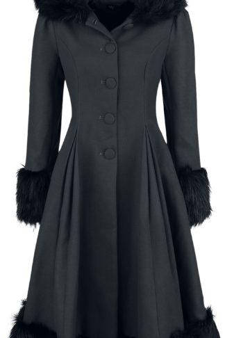Hell Bunny Elvira Coat Mantel schwarz