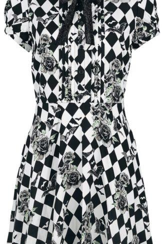 Hell Bunny Hauntly Mini Dress Kurzes Kleid schwarz/weiß