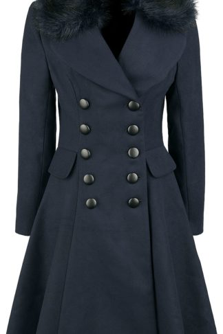 Hell Bunny Milan Coat Wintermantel navy