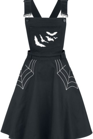 Hell Bunny Miss Muffet Pinafore Dress Kurzes Kleid schwarz
