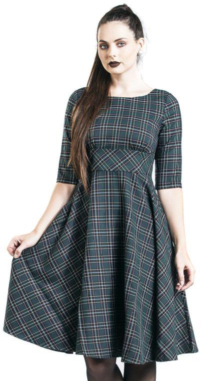 Hell Bunny Peebles 50s Dress Mittellanges Kleid grün
