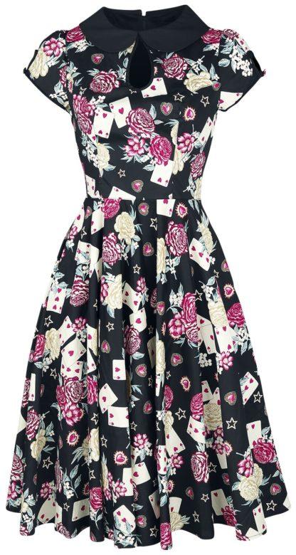Hell Bunny Queen of Hearts 50s Dress Mittellanges Kleid multicolor