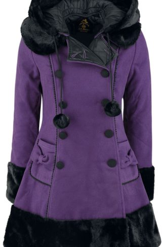 Hell Bunny Sarah Jane Coat Wintermantel lila