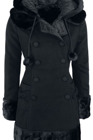 Hell Bunny Sarah Jane Coat Wintermantel schwarz