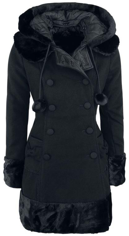 Hell Bunny Sarah Jane Coat Wintermantel schwarz