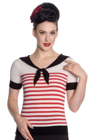 Hellbunny Matrosen Top Coco Stripe von Rockabilly Rules