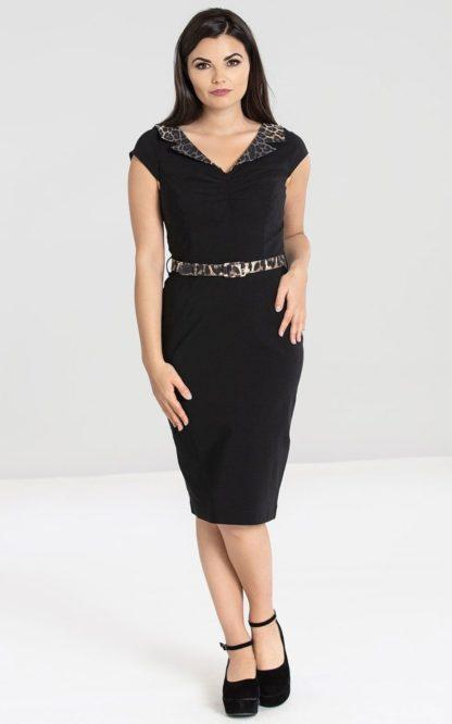 Hellbunny Pencil Skirt Dress Kleid Feline von Rockabilly Rules