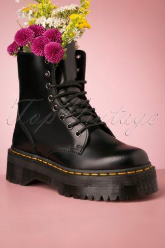 Jadon Smooth Platform Ankle Boots in Black