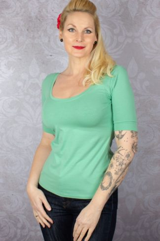 King Louie - Short Ballerina Top Island Green | Grün von Rockabilly Rules